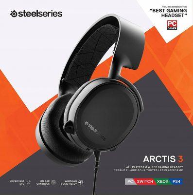 dobre słuchawki dla graczy cs go do 250 zł steelseries arctis 3