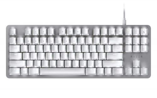 klawiatura gamingowa biała razer huntsman