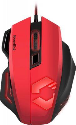 myszki gamingowe czerwone Sspeedlink Decus