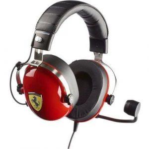 Słuchawki gamingowe czerwone