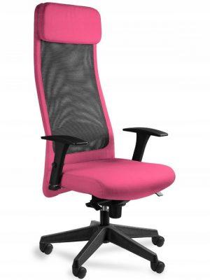 ares mesh fotel gamingowy różowy