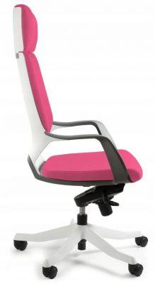 fotel biurowy gamingowy różowy apollo