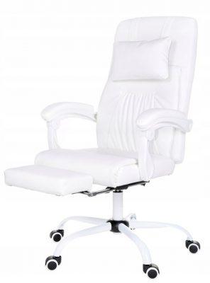fotel dla graczy biały giosedio