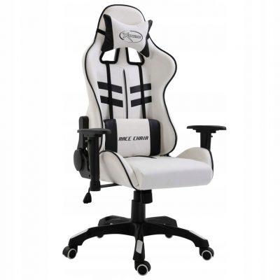 fotel gamingowy biały vidaxl race chair