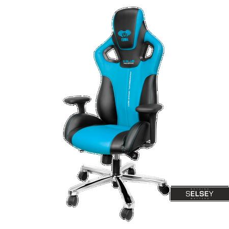 Fotele gamingowe do 1500 zł E-Blue Cobra czarno-niebieski