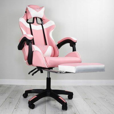 fotel gamingowy różowy ec