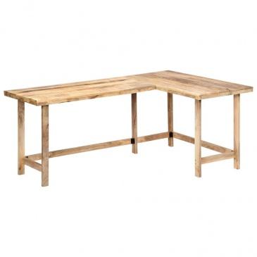 biurko narożne drewniane industrialne mango