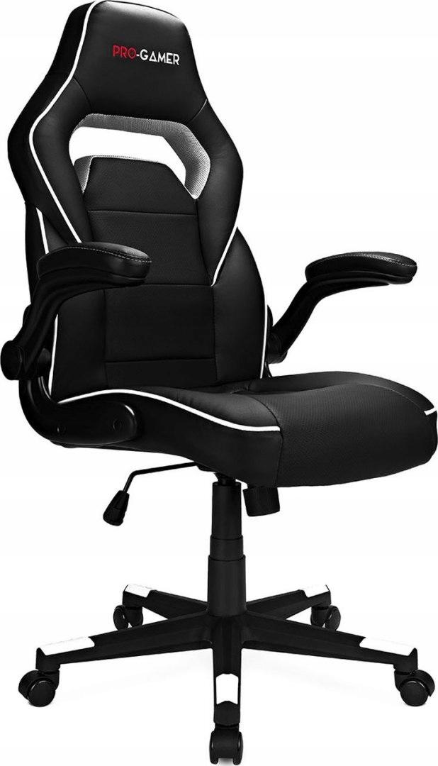 Fotel Gamingowy Pro Gamer Strike Czarno Biały