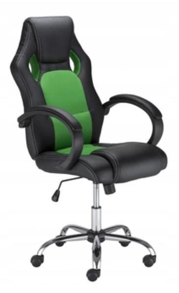 Fotel Kubełkowy Dla Gracza Obrotowy Zielony Mega