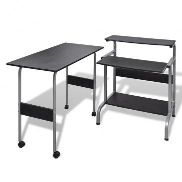 biurko czarne narożne zestaw